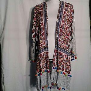 NWT Umgee kimono-style open front tunic M/L